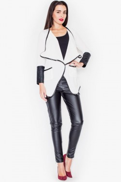 Sweter Leather White