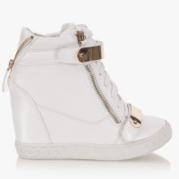 Sneakersy na koturnie White HighTop