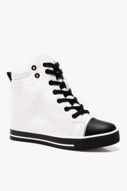 Trampki White Black Trainers