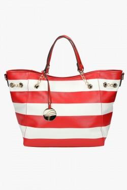 Torebka Damska Stripes Red/White