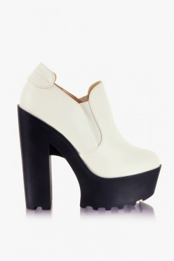Botki Chantal White Pu
