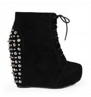 Camilla20 Wedge Bootie Black SU