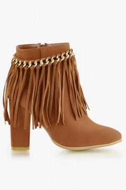Botki Boho Style Camel Pu