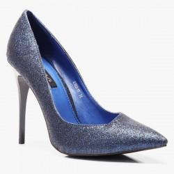 Szpilki Miss Asymmetric Blue Glitter
