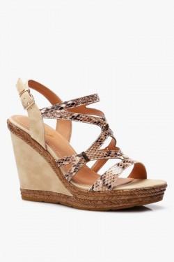 Sandały na koturnie Joanne Beige