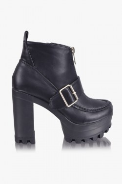 Botki Definition Buckle Black Booties