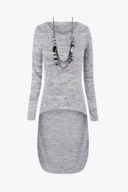 Sweter Asymmetric Grey