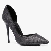 Szpilki Miss 5 Asymmetric Black Glitter