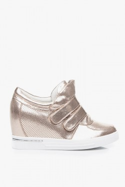 Sneakersy Pin High Top Gold