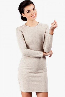 Klasyczna sukienka Margaret mini beige