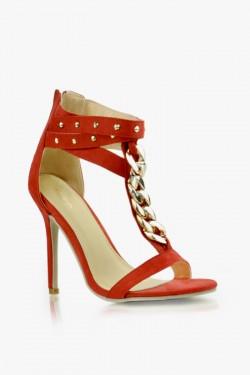 Sandały na obcasie Fearless Red Su