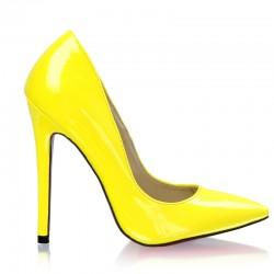 Szpilki Classic Miss Yellow Patent
