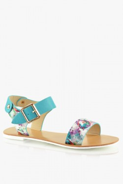 Sandały Anabelle Blue Flower Pu