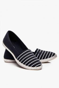 Espadryle Stripes Black