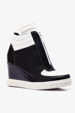 Tenisówki HighTop Zipper Black