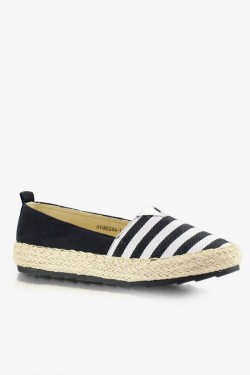 Espadryle Stripes Black/White