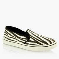Slip On's Zebra Black