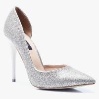 Szpilki Miss 5 Asymmetric Gold Glitter