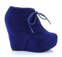 Camilla1 Wedge Bootie Blue