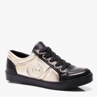 Sneakersy Camille Black Beige Pu