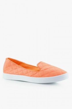 Trampki SlipOn Check Orange