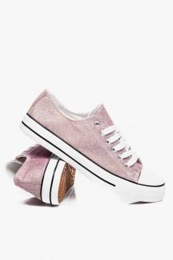Trampki short Jeans Pink