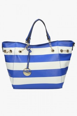 Torebka Damska Stripes Blue/White