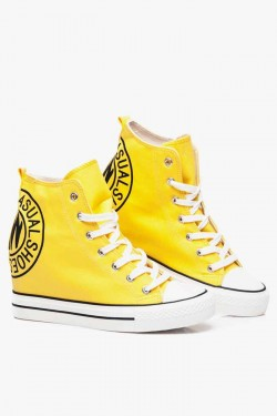 Tenisówki HighTop Print Yellow