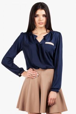 Bluzka koszulowa Samantha Navy