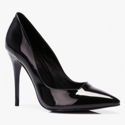 Szpilki Miss Asymmetric Black Pat