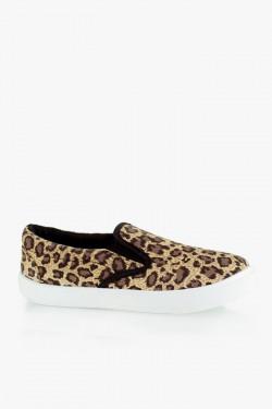 Trampki SlipOn Leopard