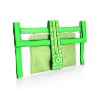 Kopertówka Aggacci Clear Studded Green