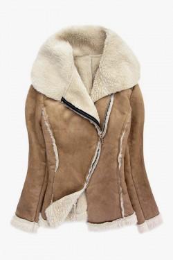 Kurtka kożuszek Shearling Coat Camel