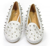 Studed Loafers silver
