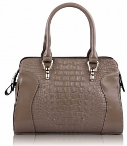 Nude Croc Fashion Bag