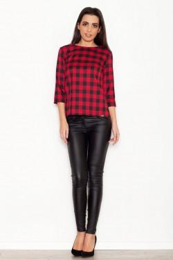 Bluzka Check Black/Red