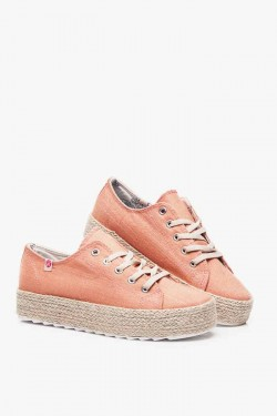 Espadryle na Platformie Lace Orange