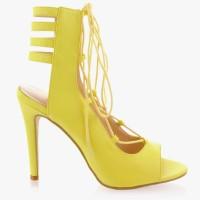 Sandałki wiązane Splendid Yellow Pu