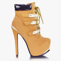 Botki Supreme Plated Camel Booties