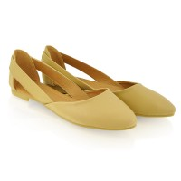 Baleriny Cut Out Beige