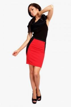 Dwukolorowa spódniczka mini Hips Red