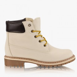 Worker Timberki Beige Trappers Boots