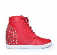 Trampki WTH10 red PU
