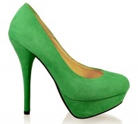 Coco PF23 platform pumps green