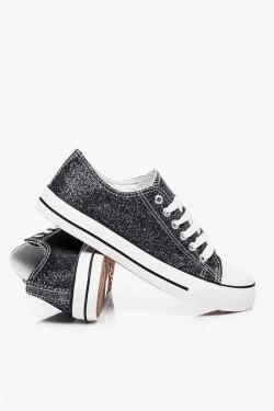 Trampki short Jeans Black