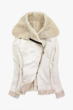 Kurtka kożuszek Shearling Coat Ecru