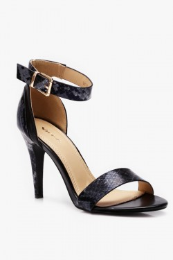 Sandały Caroline Snake Black