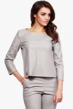 Elegancka bluzka z ekoskóry Caytlin Grey