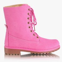 Workery Timberki Pink Trappers Boots