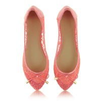 Baleriny Tender Lace Coral